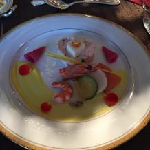 前菜は魚介類がたくさん使われていました。