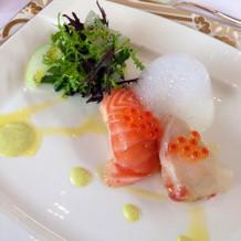 前菜の寿司見仕立て☆とても美味しかった!