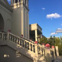 チャペル前の大階段