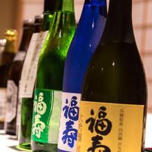 お酒は日本酒。