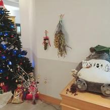 クリスマスツリーは会場のものです