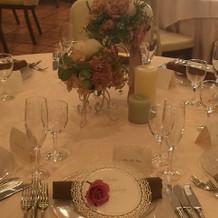 素敵なお花とテーブルコーディネート