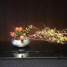 入口の生け花