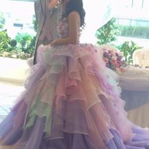 披露宴で着たドレス