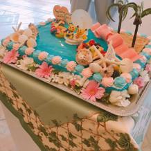 自分でデザインしたケーキです。