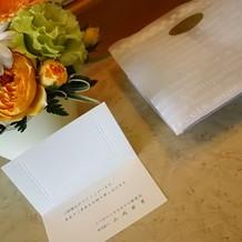 宿泊したお部屋に置いて下さった花鉢