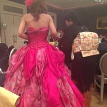 大好きなピンクのカラードレスです