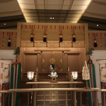 館内の挙式会場