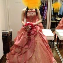 オリジナルカラードレス試着