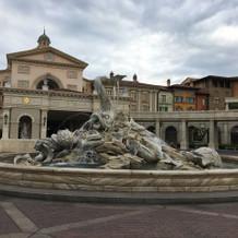 ホテルミラコスタ前の噴水