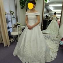 ロールカラードレス!