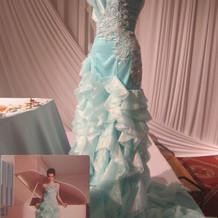 アリエル風のドレス