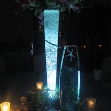 ゲストテーブルの光の演出