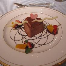 スタンダード料理のデザート