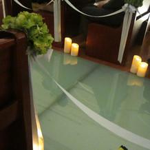バージンロードの床