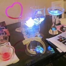 ゲストテーブル用光るバラ