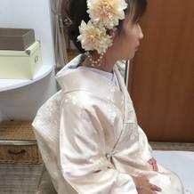 白無垢用髪飾り(衣装室にある物です)