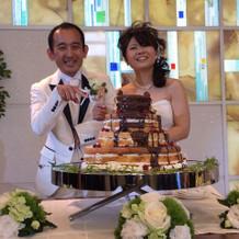 ドリップのケーキもお客様に好評でした