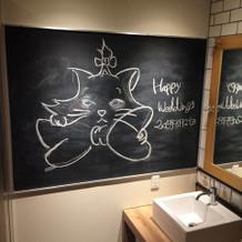 トイレ 手書きのイラスト感動しました!