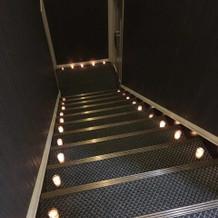 披露宴会場に続く階段です。