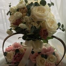 ブーケと子どもからの花束贈呈の際のお花