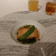 お魚料理です。