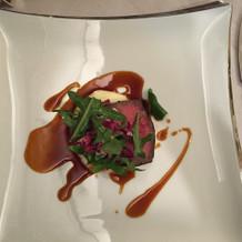 牛肉のソテー トリュフソース