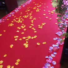 ピンクとオレンジの花びらキレイでした