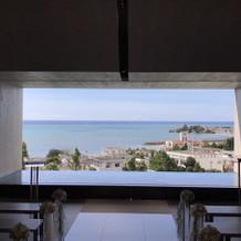チャペルからの眺め。海もきれいでした