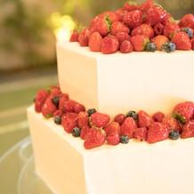 六角形のシンプルなケーキ