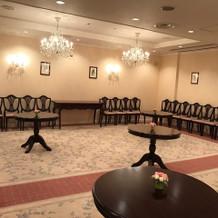 挙式後の歓談スペース