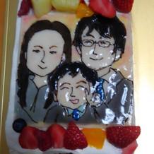 ウエディングケーキの似顔絵部分です!