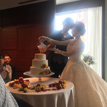 カラードリップケーキ