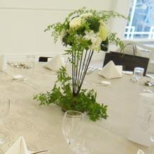 装花とテーブルコーディネード