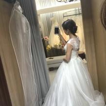 +10万のドレス、後ろ