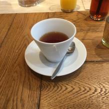 紅茶、コーヒーも選べます