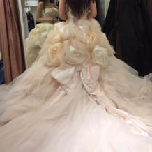 神田うのさんドレス。後ろ姿もボリューミー