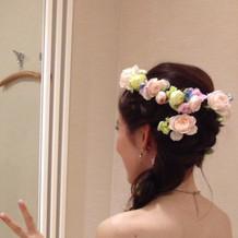 花かんむり。可愛かった
