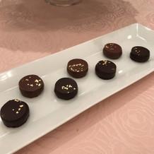 一口チョコレートです。