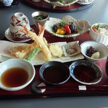 天ぷらさくさくです。