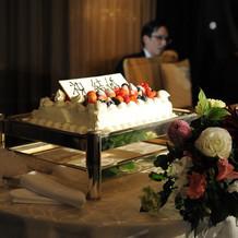 生ケーキとダリア2