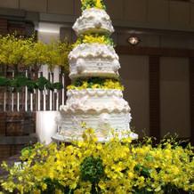 イエローを基調にしたケーキ