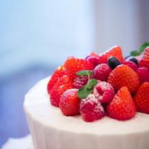 ケーキのフルーツ類