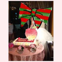 デコレーションが可愛いケーキ