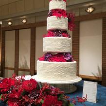 大きな披露宴会場向けのケーキ