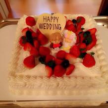 食事会をした際に用意していただいたケーキ