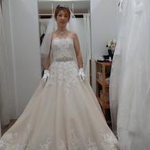 綺麗でしたぁ!確かこのドレスは10万。