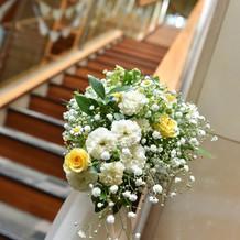 階段の装花