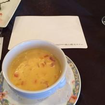 コーンスープ。シンプルな味でお子様にも。