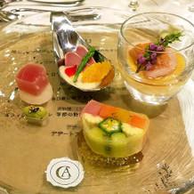 旬野菜と新鮮な魚介のマリアージュ